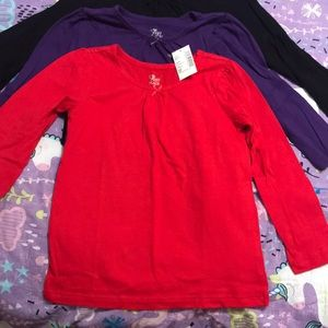 Children's Place Shirts & Tops - Bundle of 3 Jewel tone layering tee Bundle